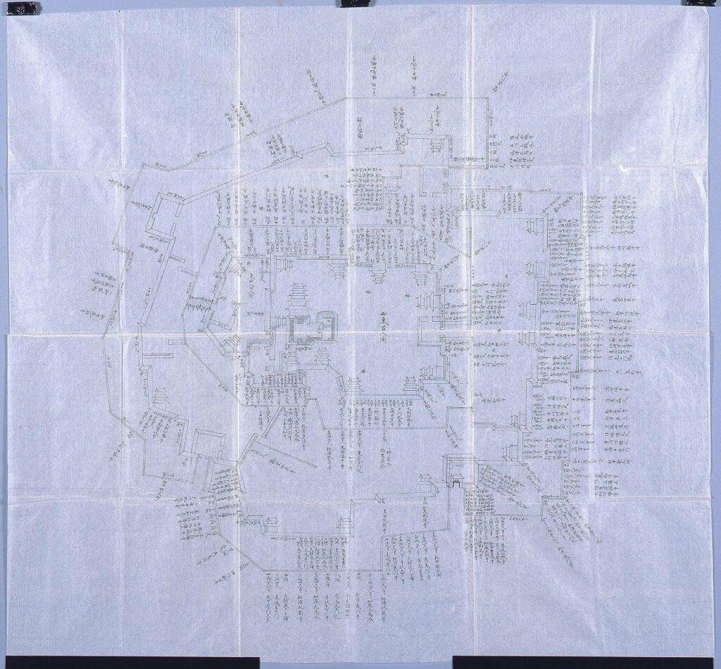 作品画像:大坂城石垣普請大名工区割図