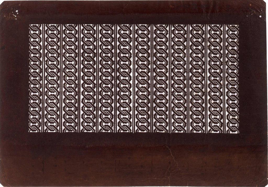 作品画像:長板中形型紙 廓つなぎ(小)
