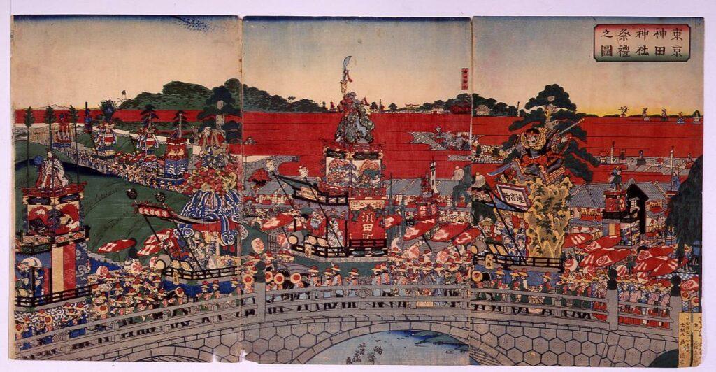 作品画像:東京神田神社祭礼之図