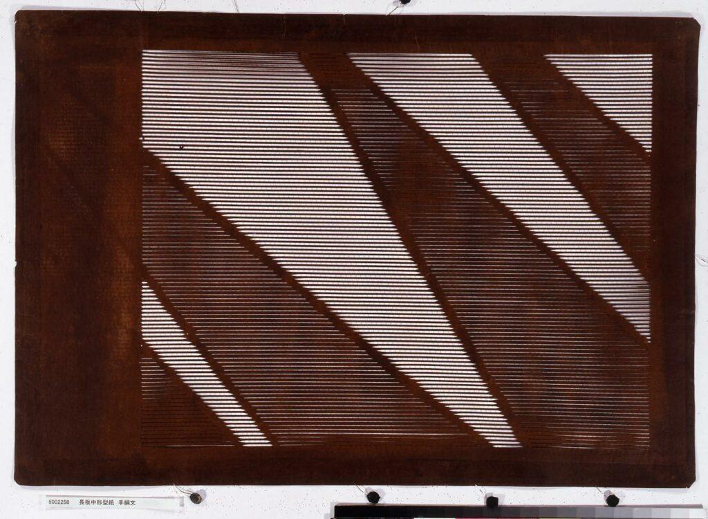 作品画像:長板中形型紙 手綱文