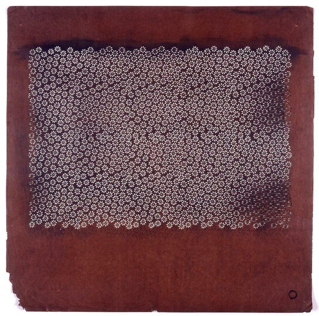 作品画像:長板中形型紙 小菊