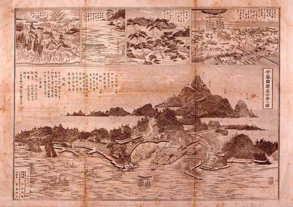 作品画像:安芸国厳島全景之図