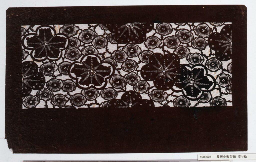 作品画像:長板中形型紙 変り松