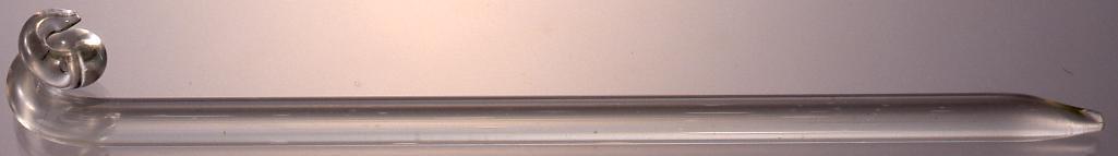 作品画像:ガラス製渦巻飾簪