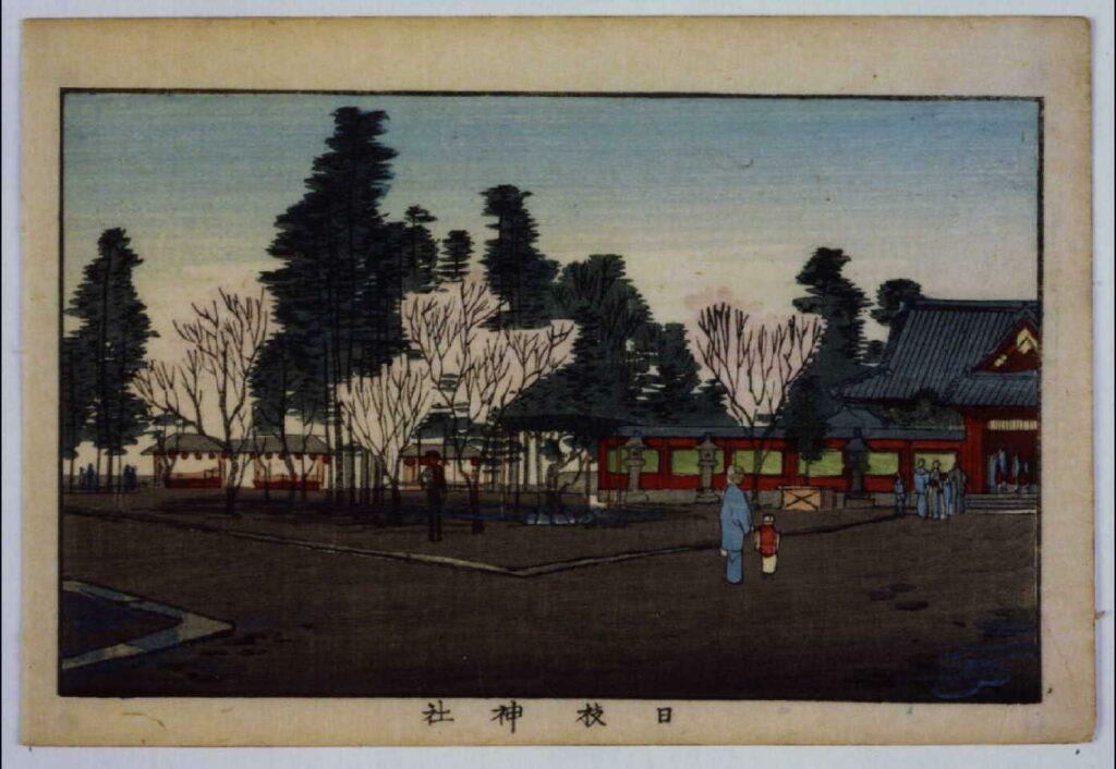 作品画像:東京真画名所図解 日枝神社