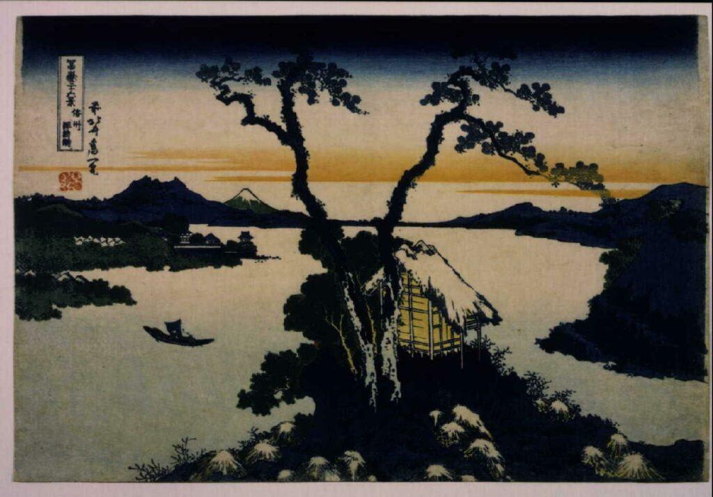作品画像:冨嶽三十六景 信州諏訪湖