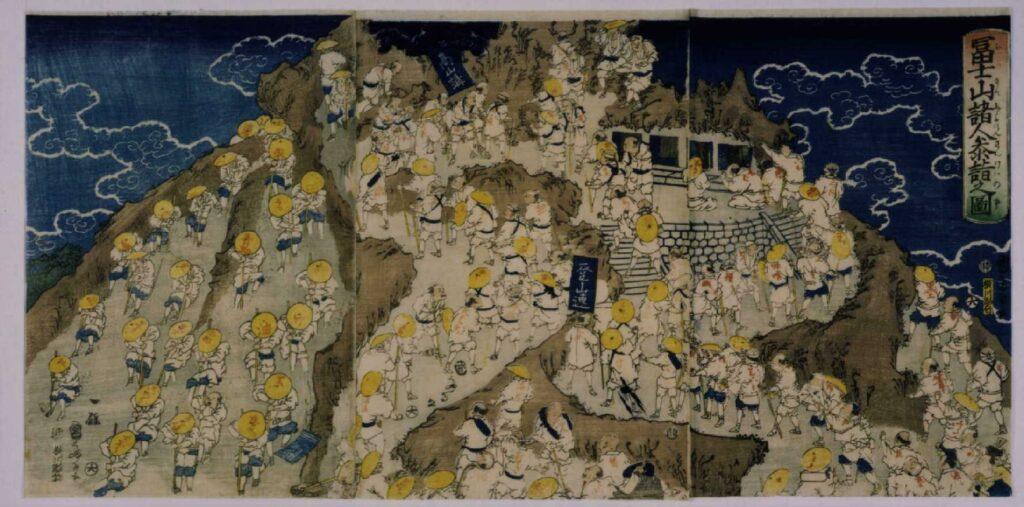 作品画像:富士山諸人参詣之図