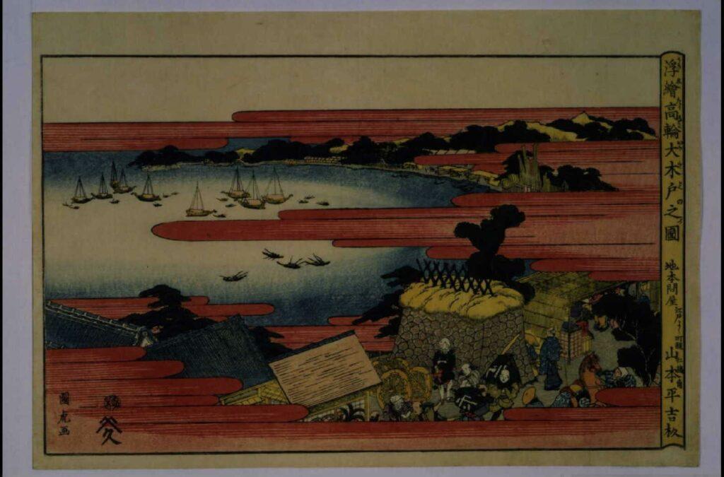 作品画像:浮絵 高輪大木戸之図