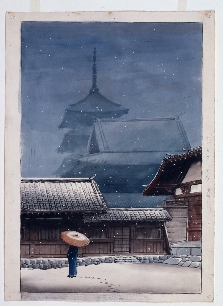 作品画像:旅みやげ第三集 大阪天王寺 原画