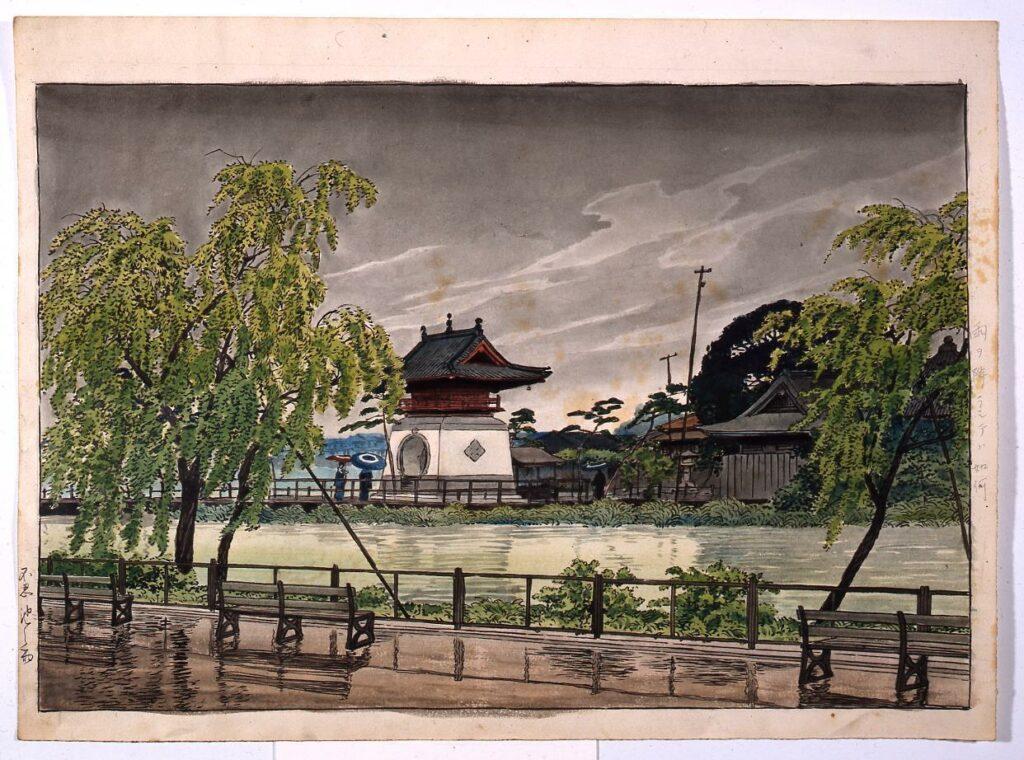 作品画像:東京二十景 不忍池之雨 原画