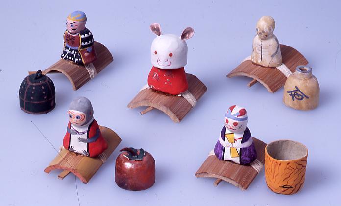 作品画像:ミニチュア玩具 とんだりはねたり 猿