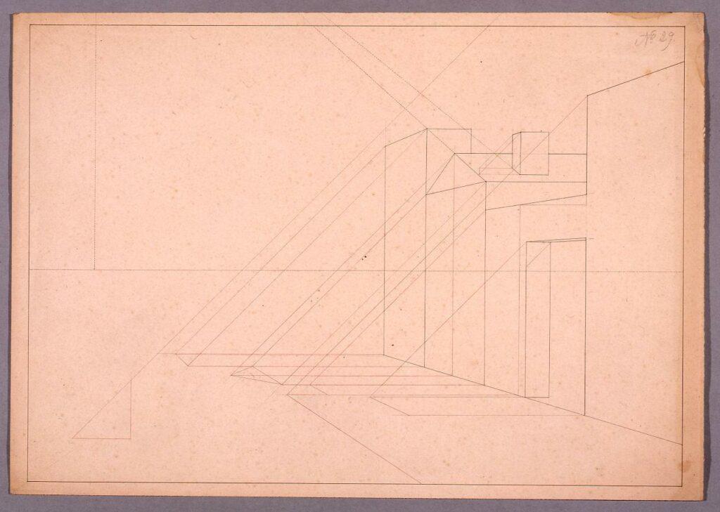 作品画像:図面習作 透視図(建造物)