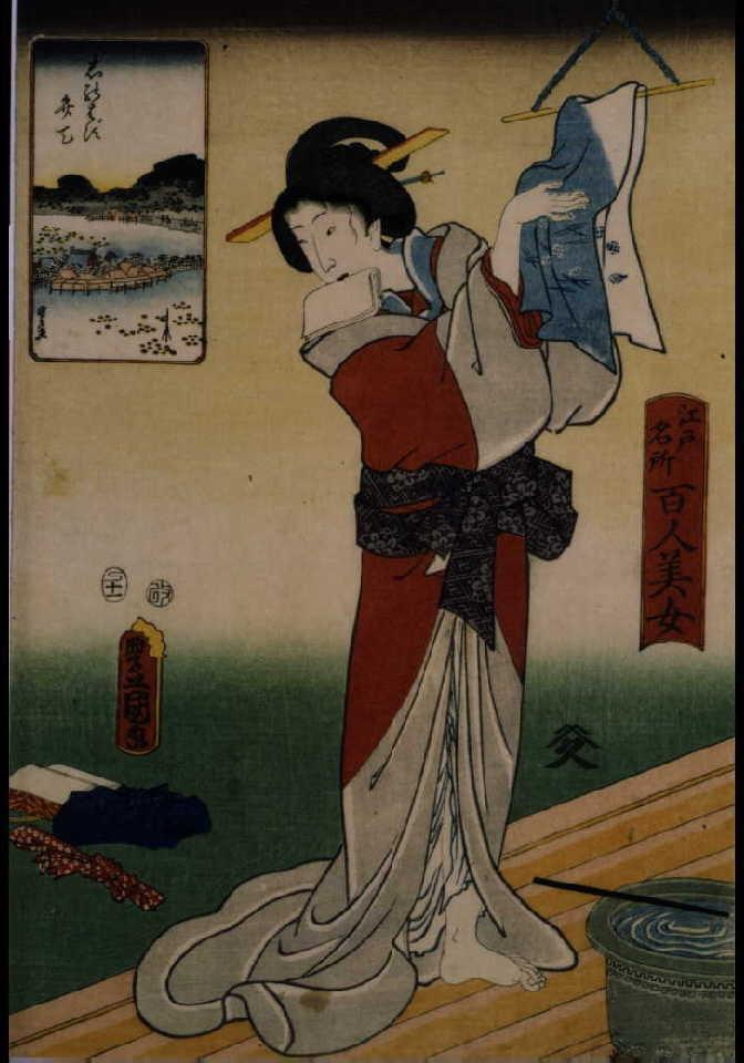 作品画像:江戸名所百人美女 しのばず弁天