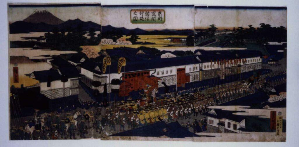作品画像:東都霞ヶ関諸侯行粧之図
