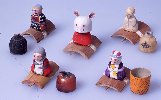 作品画像:ミニチュア玩具 とんだりはねたり 骸骨