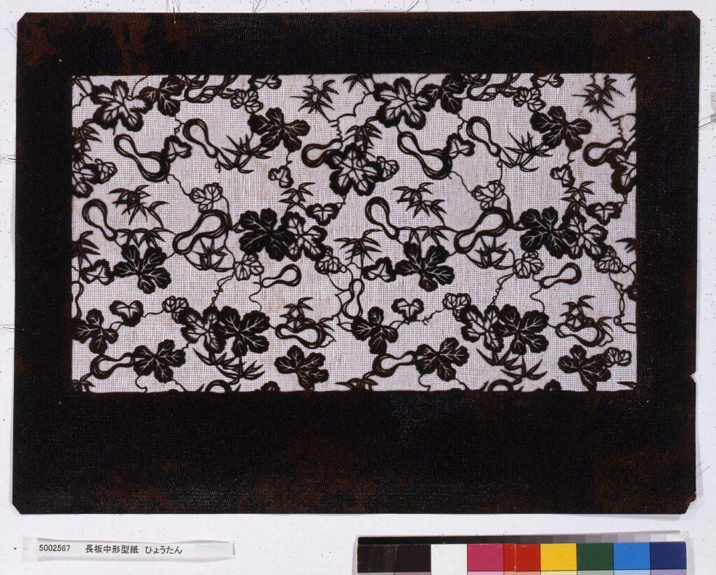 作品画像:長板中形型紙 ひょうたん