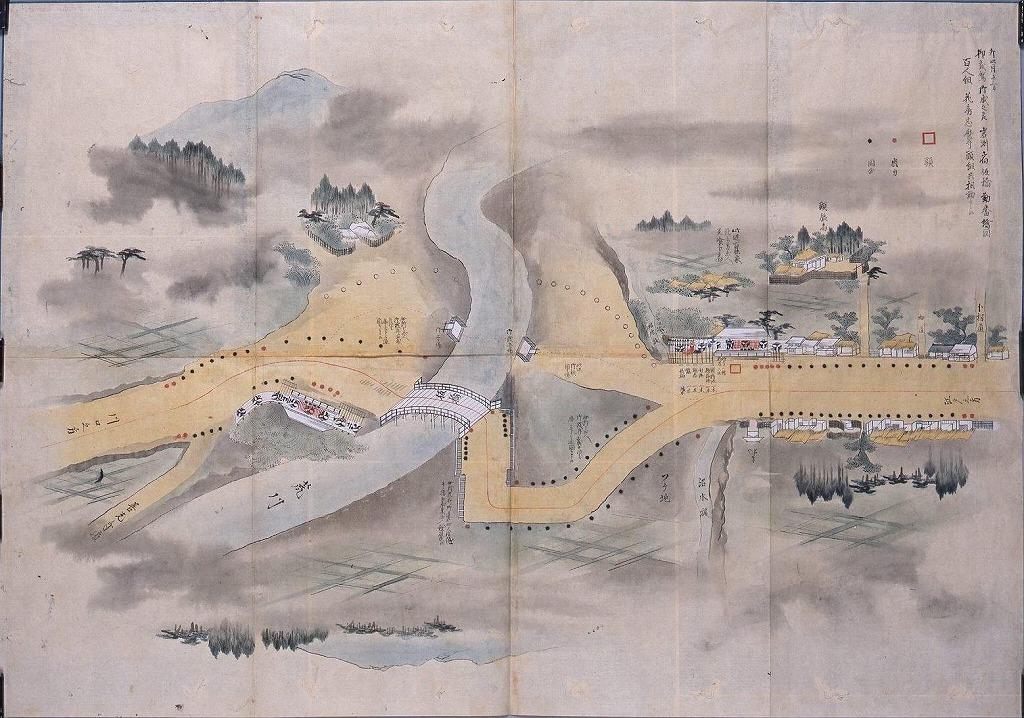 作品画像:天保十四年日光社参勤番守護絵図