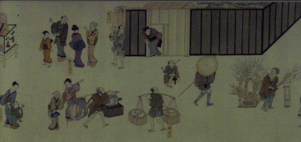 作品画像:十二ケ月年中江戸風俗