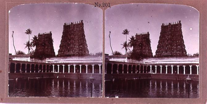 作品画像:インドのマジュラの古塔(No.201)