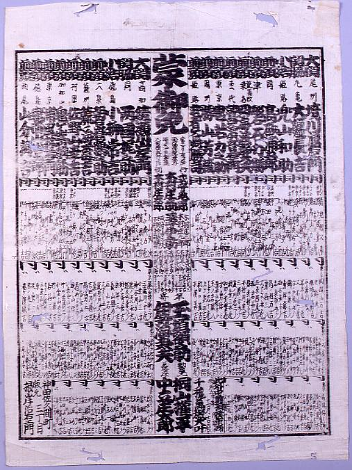作品画像:回向院大相撲番付 明治五年十一月場所