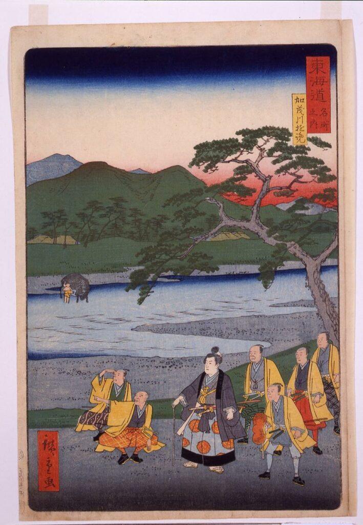 作品画像:東海道名所之内 加茂川遊覧