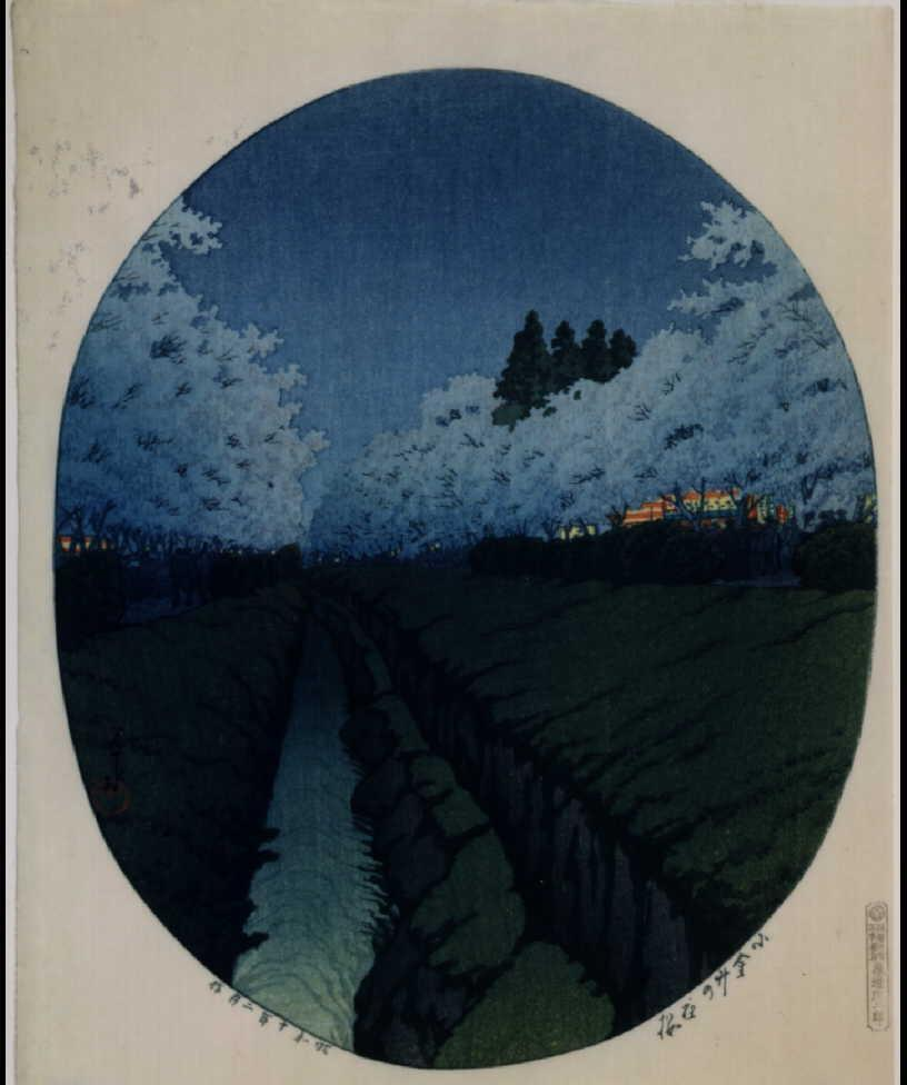 作品画像:小金井の夜桜