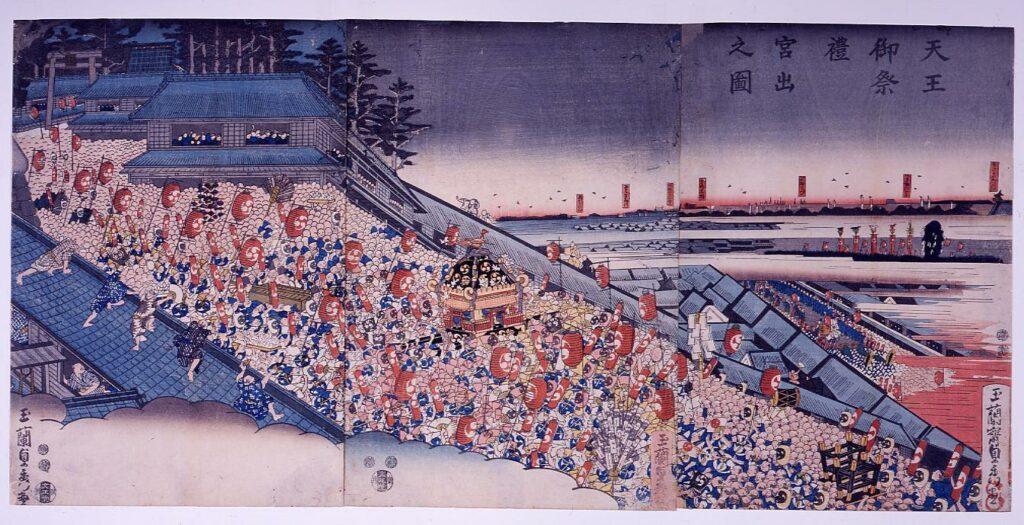 作品画像:天王御祭礼宮出之図