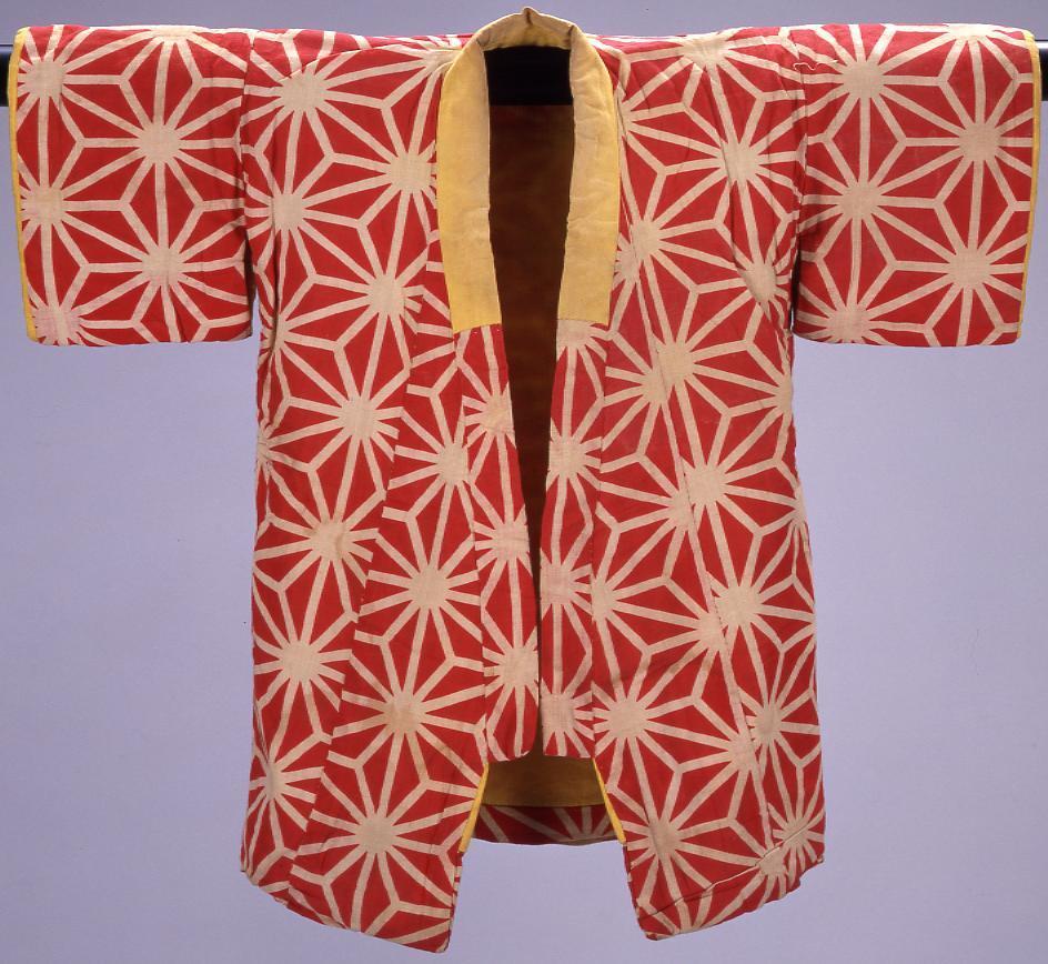 作品画像:麻の葉模様 子供綿入れ着物