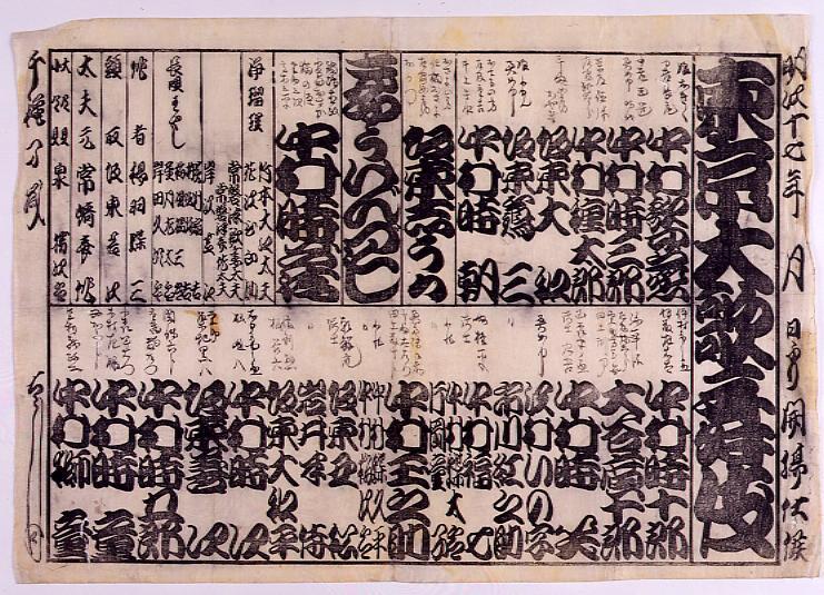 作品画像:辻番付「東京大歌舞伎 狂言づくし」