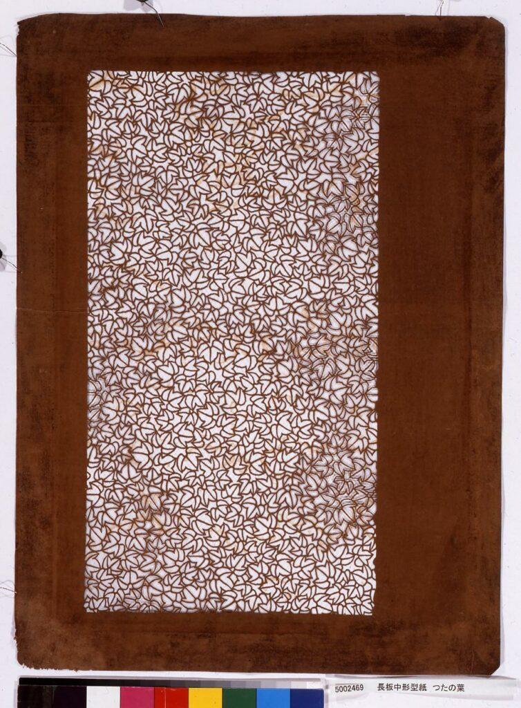 長板中形型紙 つたの葉