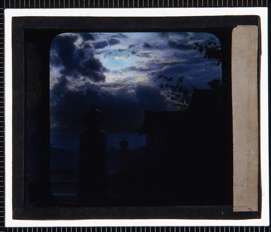 京都 寺(幻燈原板)
