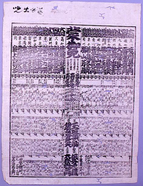 作品画像:回向院大相撲番付 明治七年二月場所