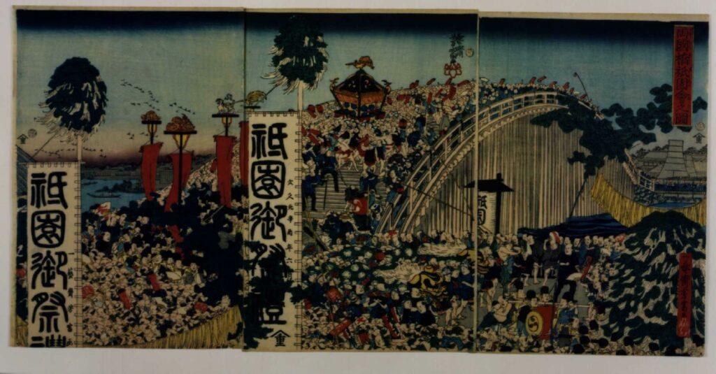 作品画像:両国橋祇園会之図