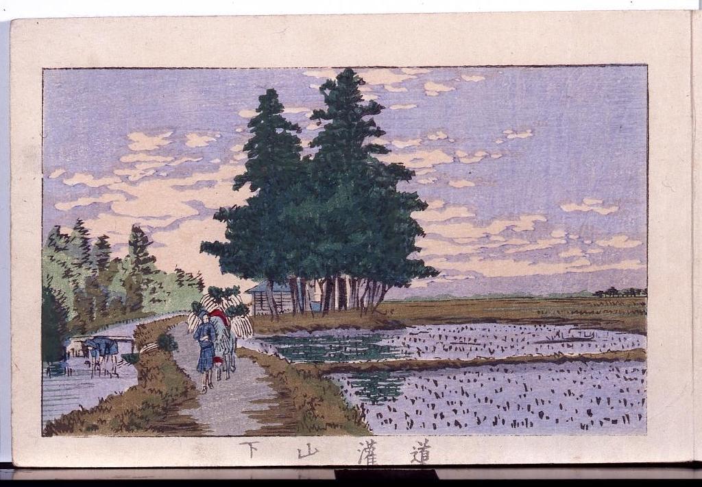 作品画像:画帖 東京名所 ー 道潅山下