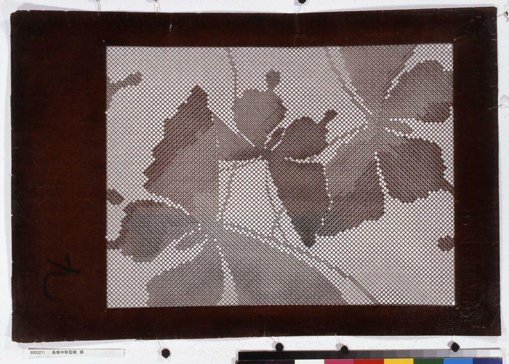 作品画像:長板中形型紙 蝶