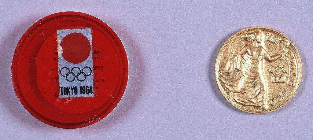 作品画像:オリンピック東京大会 記念メダル兼用ペンダント