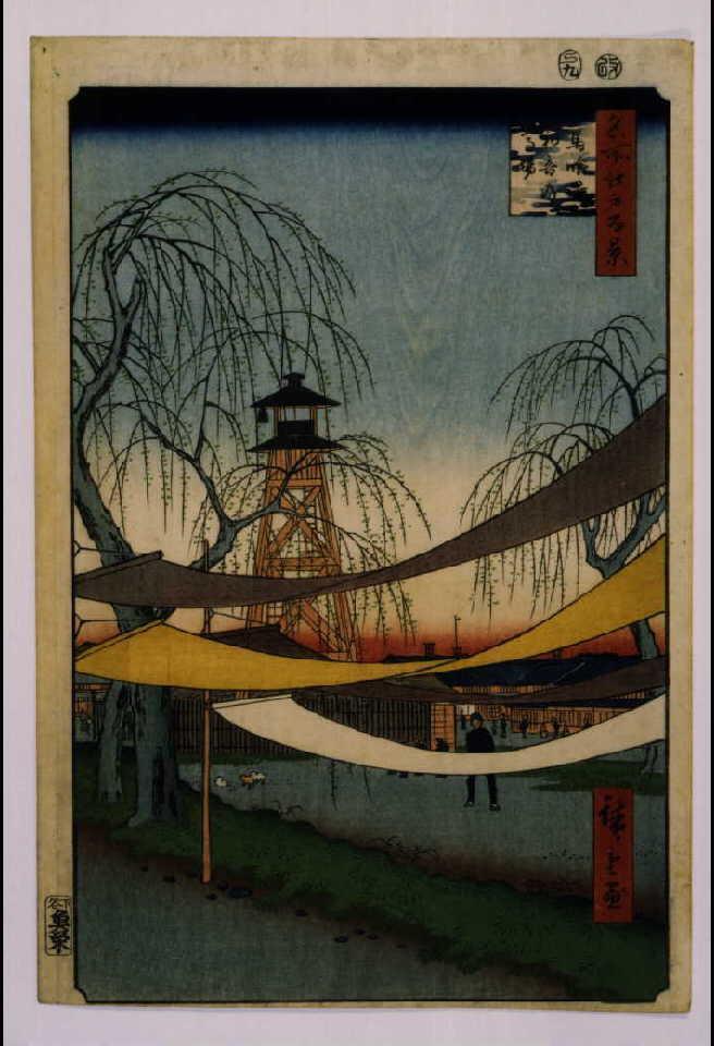 作品画像:名所江戸百景 馬喰町初音の馬場