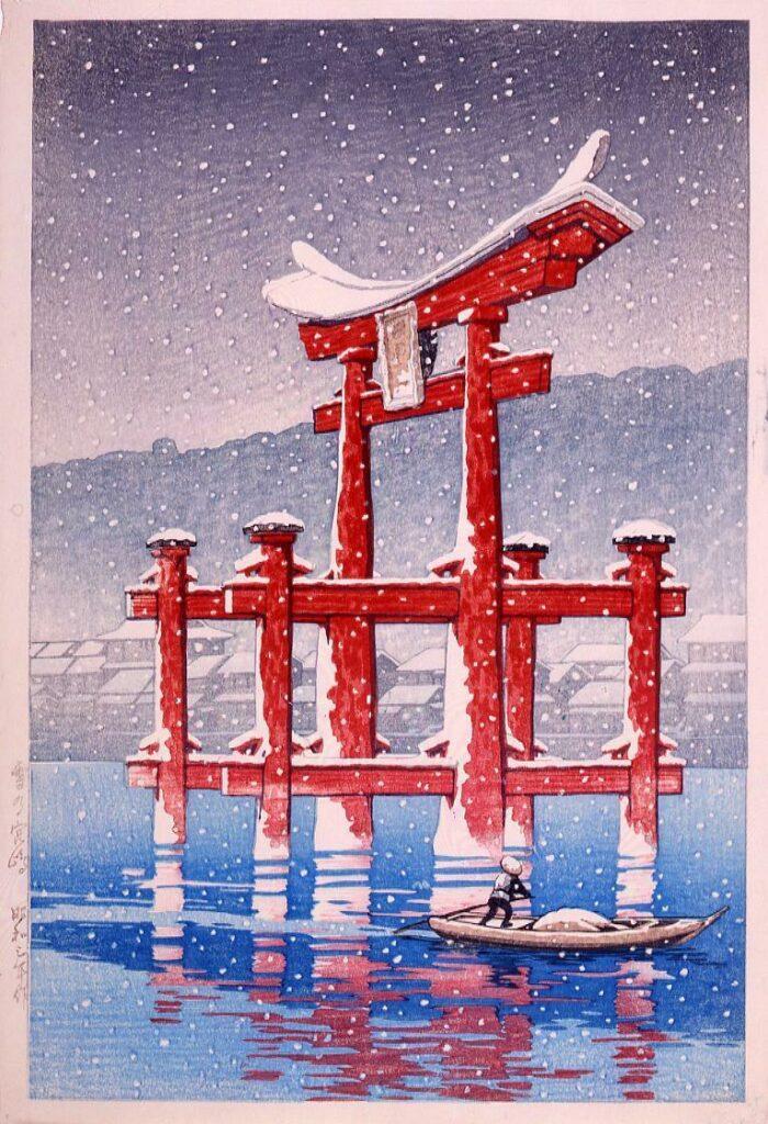 作品画像:旅みやげ第三集 雪の宮島 試摺