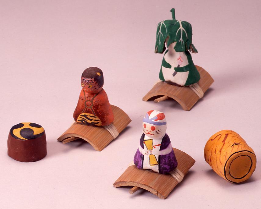 作品画像:ミニチュア玩具 とんだりはねたり 赤鬼
