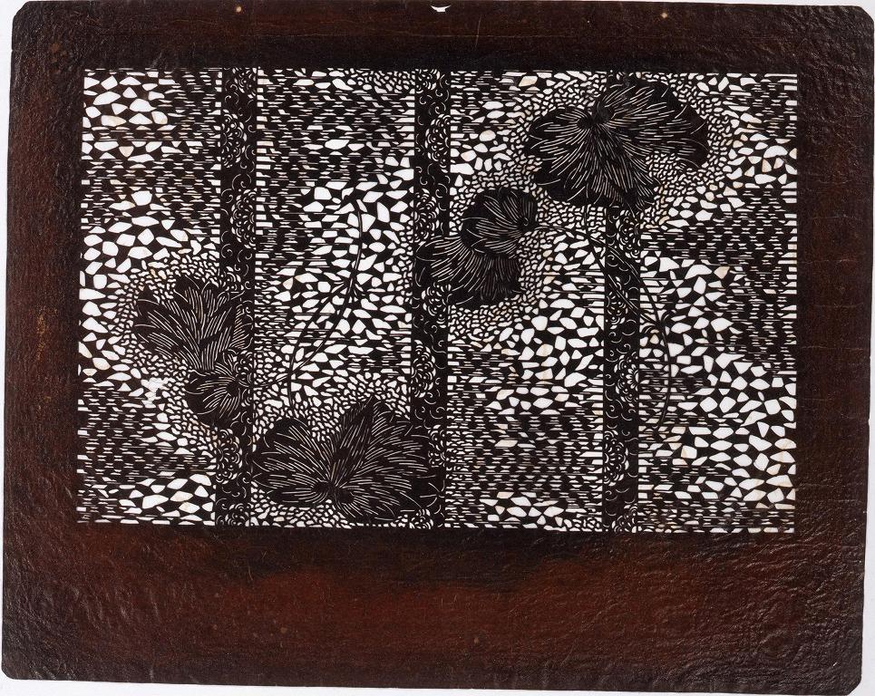作品画像:長板中形型紙 あおい (小判 追掛)