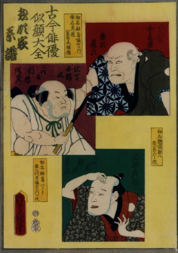 作品画像:古今俳優似顔大全 惣領家系譜