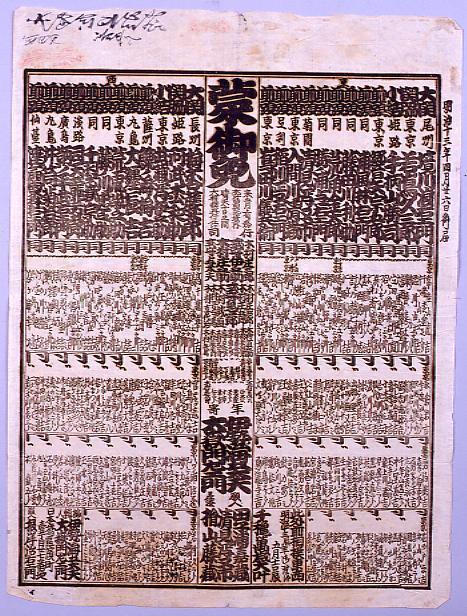 作品画像:回向院大相撲番付 明治十三年五月場所