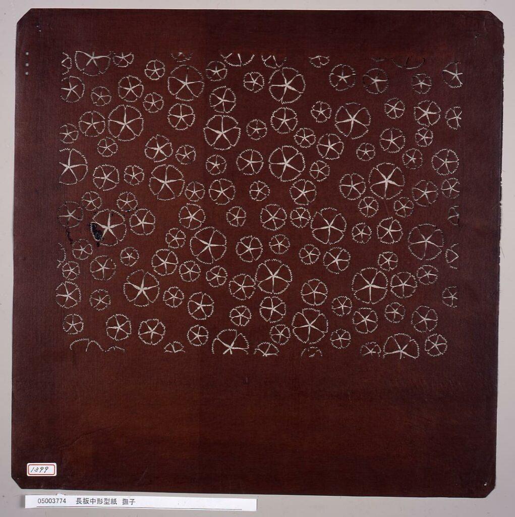 作品画像:長板中形型紙 撫子