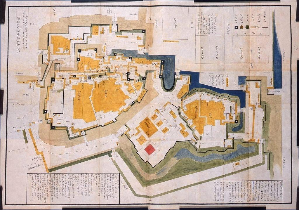 江都御城詰番所之道絵図
