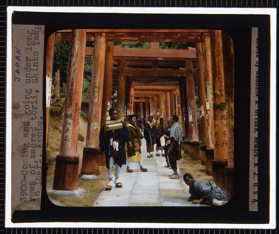 作品画像:京都 伏見稲荷(幻燈原板)
