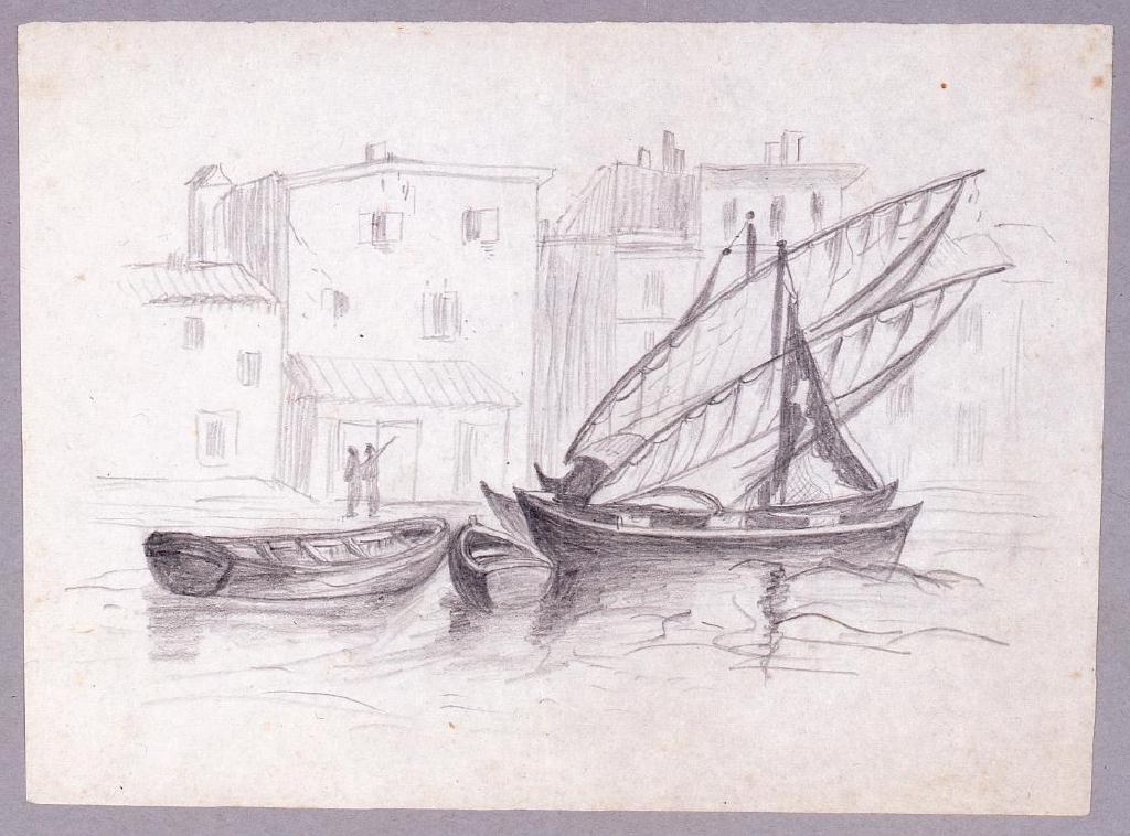 作品画像:素描  ヴェネツィア風景