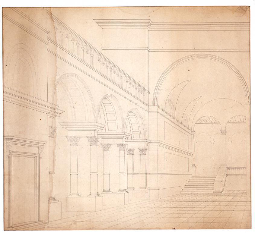作品画像:ド-ジェ宮殿内部透視図