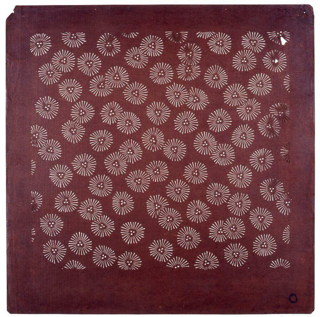 作品画像:長板中形型紙 丸松