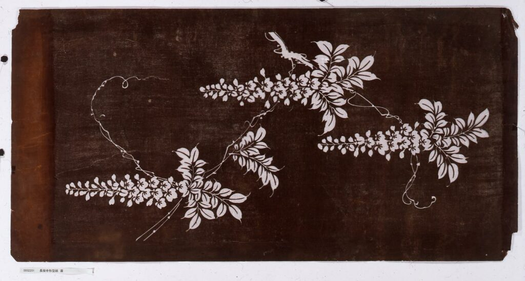 作品画像:長板中形型紙 藤