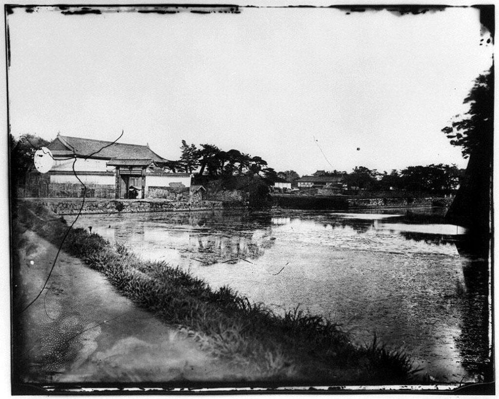 作品画像:旧江戸城写真ガラス原板  雉子橋門